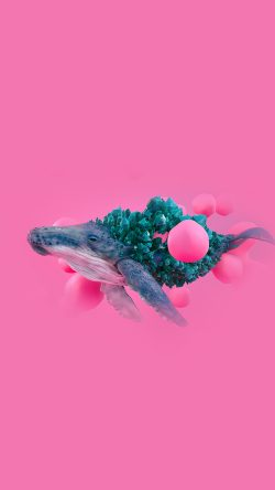 Iphone6papers Com Iphone 6 Wallpaper Bg94 Whale Pink Bubble