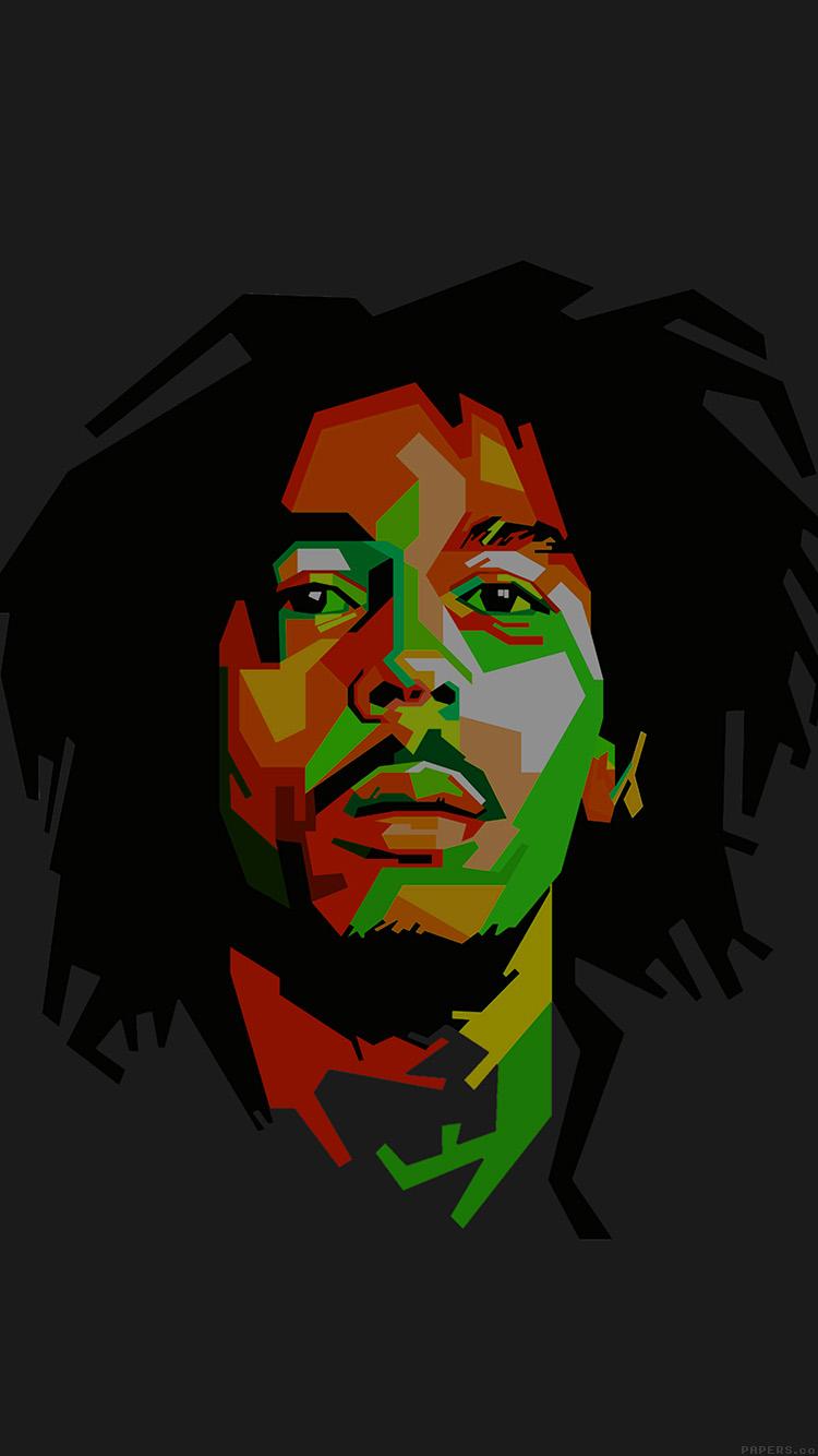 Iphone6papers He09 Bob Marley Dark Art Illust Music Reggae Celebrity
