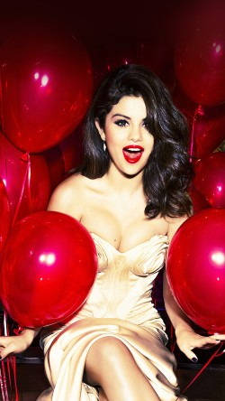 papers.co-hh76-selena-gomez-red-dress-balloon-party-33-iphone6-wallpaper