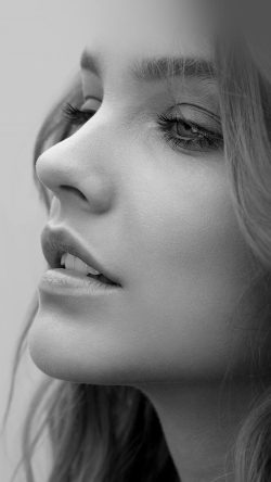 papers.co-hi54-barbara-palvin-face-bw-dark-33-iphone6-wallpaper