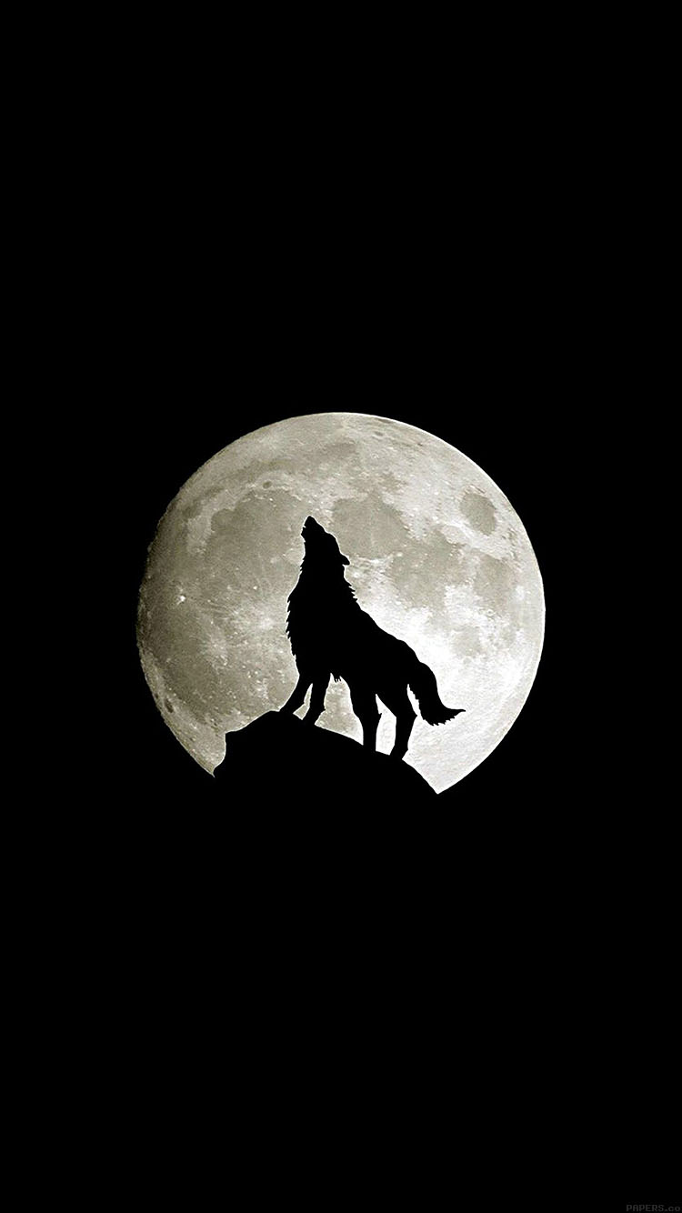 Iphone6papers Ma32 Wolf Howl Animal Dark Minimal Nature