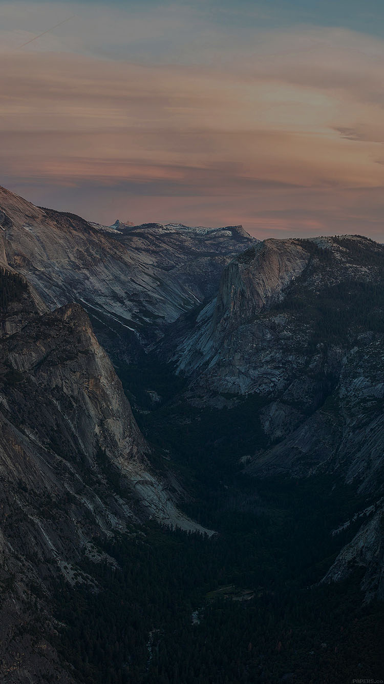 Iphone6papers Mc55 Wallpaper Glacier Point At Sunset