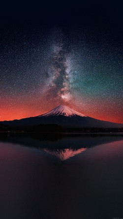 papers.co-mc69-wallpaper-milky-way-on-dark-mountain-fuji-sky-33-iphone6-wallpaper