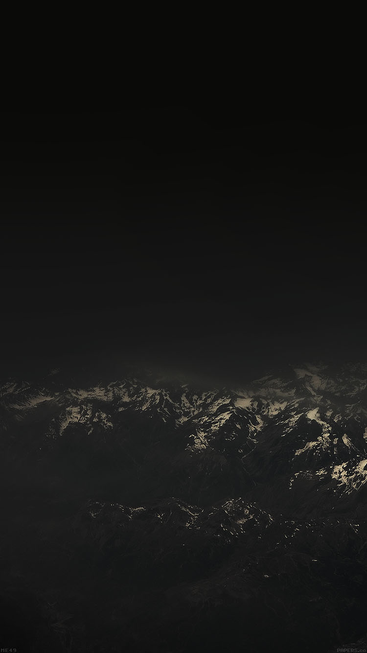 Iphone6papers Me49 The Alps Dark Mountain Sky View