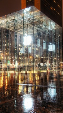 papers.co-mh73-raining-apple-store-newyork-33-iphone6-wallpaper