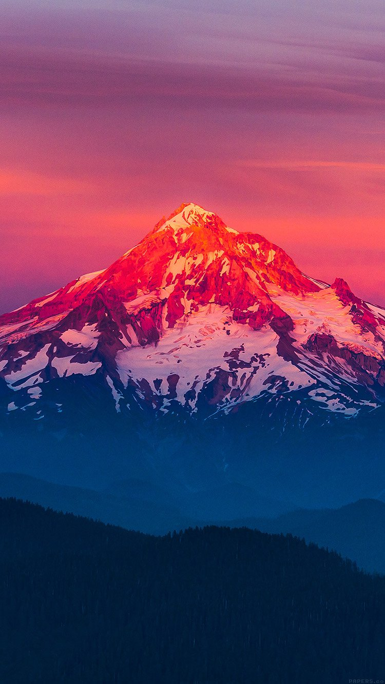 Iphone6papers Com Iphone 6 Wallpaper Mk11 Purple Sunset Snow