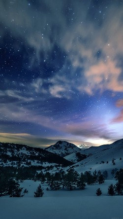 papers.co-mk78-aurora-star-sky-snow-mountain-winter-nature-33-iphone6-wallpaper