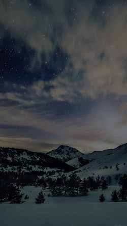 papers.co-mk80-aurora-star-sky-snow-dark-night-mountain-winter-nature-33-iphone6-wallpaper