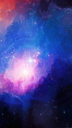 papers.co-mn48-space-aurora-art-star-illust-blue-rainbow-33-iphone6-wallpaper