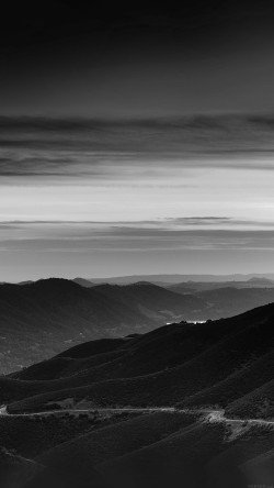 papers.co-mr29-road-curve-mountain-sunset-nature-lovely-bw-dark-33-iphone6-wallpaper