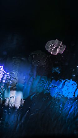 papers.co-mt25-raining-window-bokeh-blue-light-33-iphone6-wallpaper