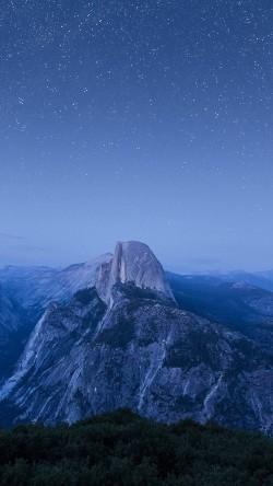 papers.co-mt93-starry-night-blue-summer-mountain-nature-awesome-33-iphone6-wallpaper