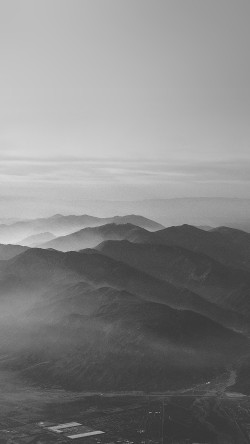 papers.co-mu40-mountain-fog-nature-dark-bw-gray-sky-view-33-iphone6-wallpaper