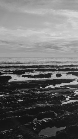 papers.co-mv45-ocean-sea-water-sky-sunset-afternoon-nature-dark-bw-33-iphone6-wallpaper