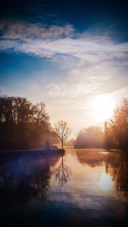 papers.co-mw66-lake-calm-tree-mountain-sunny-day-nature-vignette-33-iphone6-wallpaper