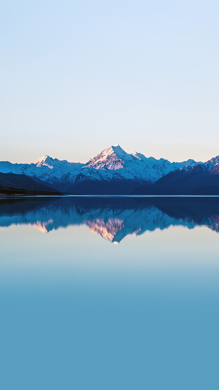Iphone6papers Co Iphone 6 Wallpaper Mz73 Mountain Lake Beautiful Nature Blue Sky