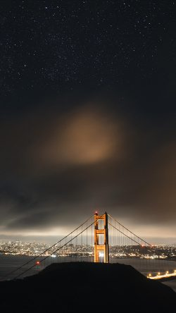 papers.co-ne59-golden-bridge-sky-star-milkyroad-river-city-night-dark-33-iphone6-wallpaper