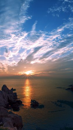 papers.co-ng53-sunset-sky-cloud-sea-rock-bridge-nature-33-iphone6-wallpaper