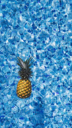 papers.co-nh20-sea-water-pineapple-swim-ripple-wave-blue-33-iphone6-wallpaper