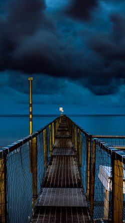 papers.co-ni93-sea-night-blue-dark-bridge-ocean-33-iphone6-wallpaper