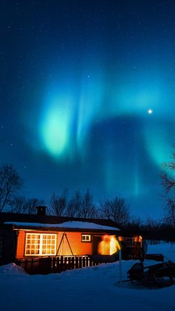 papers.co-nl51-aurora-canada-house-night-winter-mountain-sky-33-iphone6-wallpaper