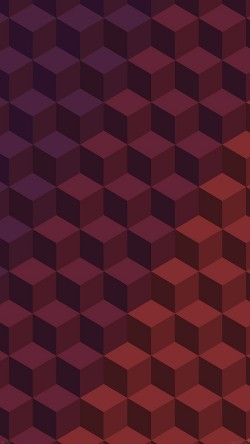 papers.co-ve02-cube-shadow-red-pattern-art-33-iphone6-wallpaper