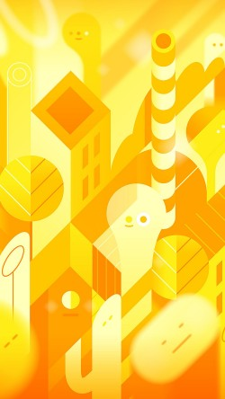 papers.co-vk88-android-lollipop-lg-yellow-cute-illust-pattern-33-iphone6-wallpaper