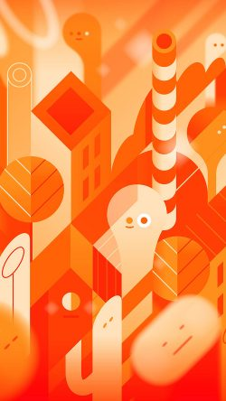 papers.co-vk90-android-lollipop-lg-orange-cute-illust-pattern-33-iphone6-wallpaper