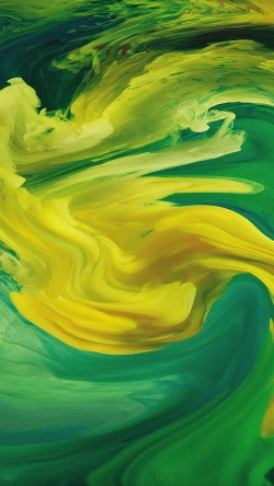 papers.co-vl07-hurricane-swirl-abstract-art-paint-green-pattern-33-iphone6-wallpaper