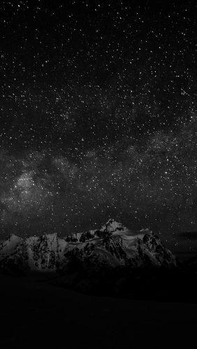 nf71-starry-night-sky-mountain-nature-bw-dark
