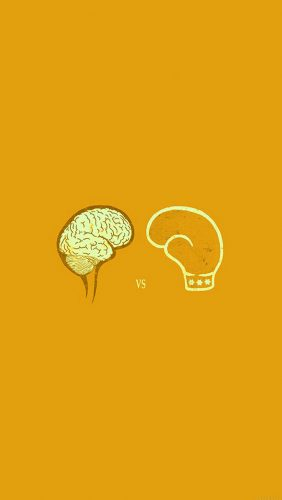 ai23-brain-vs-boxing-illust-gold-minimal-art